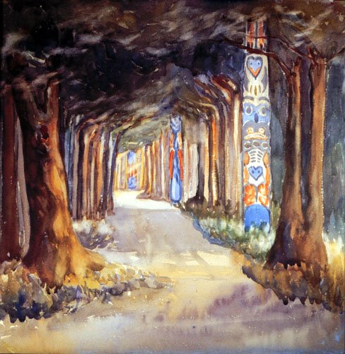 'Totem Walk at Sitka' / Emily Carr / Art Gallery of Greater Victoria / 94.55.4